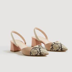 MANGO Contrast Slingback Shoes